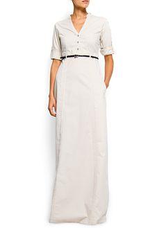 sleeved Maxi-dress by Mango