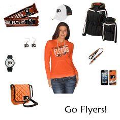 Philadelphia Flyers Outfit #Flyers http://www.fansedge.com/Philadelphia-Flyers-Womens-Apparel-_-381723944_PG.html?social=pinterest_wwls_flyers