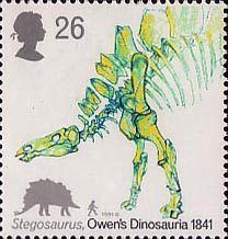 Dinosaurs 26p Stamp (1991) Stegosaurus