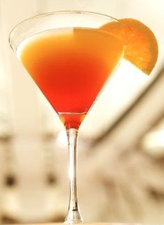 It's called an Orange Delgiht – but its basically an orange martini but better.  1 Large can of pineapple Juice  1 Large Orange Juice  Gingerale  Vodka or Rum  Knock yourself out!