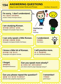 194 Learn Korean Hangul Answering Questions