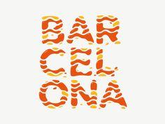 Barcelona lettering —Maximo Gavete