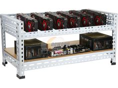 Newegg.com - DIYPC Ultimate Miner-V1 Open Air Bench Computer Case Rack for Cryptocurrency (Bitcoin, Litecoin, Feathercoin) GPU mining – PC c...
