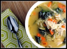 Lemon Chicken Orzo Soup - I know it's not really soup season anymore but it looks so delicious!!!
