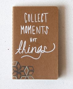Travel Pocket Journal • Going Away Gift • Natural Geometric • Gift for a Travel Lover • Collect Moments Not Things