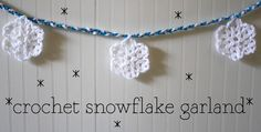Divine snowflake garland freebie. Just oh so lovely. What a find, thanks so for sharing! xox