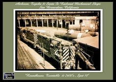 8x10 Blk/Wht Print of the Santa Fe San Bernardino, Ca. Roudhouse & Spot 10 in 1940's by antiquerails1 on Etsy