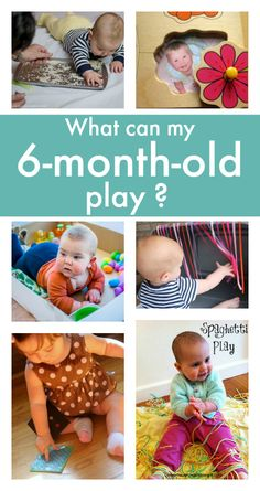 Baby toys ideas - Looking for play ideas for -old babies? Here's a wonderful collection of baby play ideas. What can my play? What can your baby play at 6 months old? Lots of things! 6 Month Baby Games, Six Month Old Baby, Baby Month By Month, Diy Toys For 6 Month Old, Diy Baby Toys 6 Months, Diy Toys For Babies, Babies Stuff, 7 Month Old Baby Activities, Baby Learning Activities