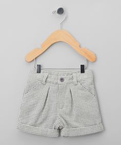 Sewing inspiration  Gray Check Wool-Blend Cuffed Shorts - Infant & Boys