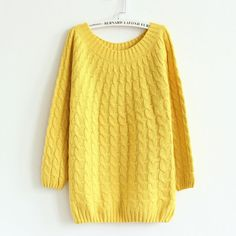 Women Sweater Pullovers Fashion Casual Long Sleeve O-neck Twist Knitted