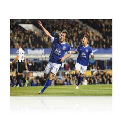 Leighton Baines Signed Everton Photograph Football Collectable Sport Memorabilia