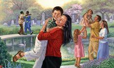 Felices reencuentros en el Paraíso a medida que las tumbas quedan vacías gracias a la resurrección