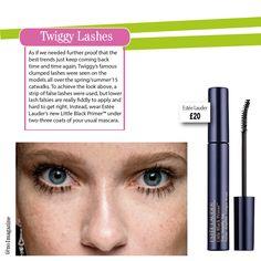 Twiggy lashes are back! #no1magazine #scotland #beauty #EsteeLauder #lashes