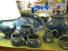 Hand thrown pottery from the coast of Maine