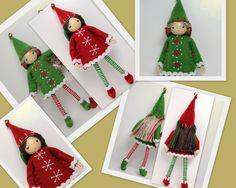 "Large 6"" bendable/posable Kindness Elf Bendy dolls from PNT dolls www.PrincessNimbleThimble.com"
