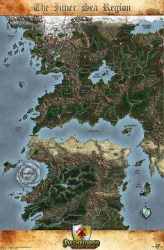 The Inner Sea Region Map by MarkonPhoenix.deviantart.com on @DeviantArt