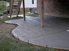 cement patio finishe