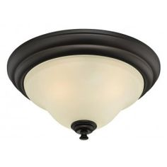 Dunmore: elegant frosted glass paired with a warm oil rubbed bronze finish   Westinghouse Lighting Dunmore Semi-Flush Ceiling Fixture