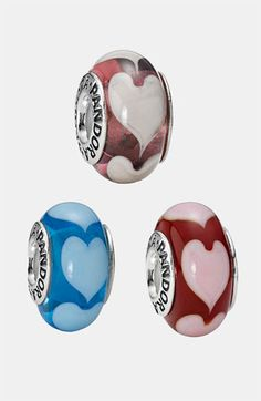 silver/red/pink PANDORA 'Love' Murano Glass Charm available at #Nordstrom