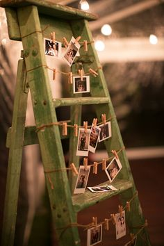 A photo ladder is a great alternative to a photo wall. Image: Sarah Kate Dorman Photography