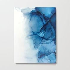 Blue Painting Canvas - Blue Tides Alcohol Ink Painting Canvas Print By Elizabethschulz Abstract Hand Painted Blue Paint Canvas Background Blue Abstract Deep Blue Flowing Wat. Alcohol Ink Crafts, Alcohol Ink Painting, Alcohol Ink Art, Blue Painting, Oil Painting On Canvas, Painting Metal, Painting Art, Painting Abstract, Metal Art