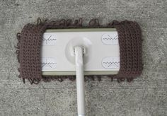 Eco Friendly Chocolate Brown Crocheted Floor by HappyCatBoutique