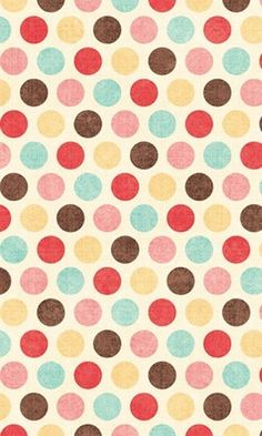 Polka dot pattern / print, I like the use of colours because they aren't too bold but its more interesting than black and white. Print Wallpaper, Cool Wallpaper, Pattern Wallpaper, Iphone Wallpaper, Cellphone Wallpaper, Backgrounds Wallpapers, Cute Wallpapers, Damier, Pretty Patterns