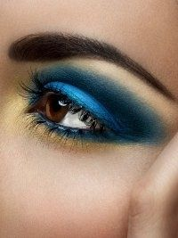 Mac eyeshadows, brights are in with beautiful peacock blues and gold.