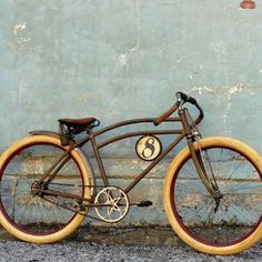 old bike with a very stylish frame.