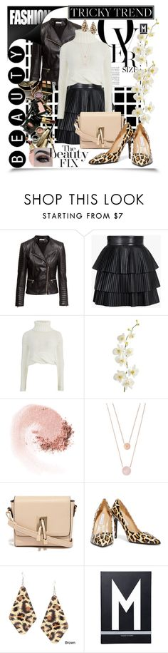 """""""inspired by you"""" by summer-marin ❤ liked on Polyvore featuring H&M, Balmain, Cameo, Pier 1 Imports, NARS Cosmetics, Michael Kors, LYDC, BHCosmetics, Diane Von Furstenberg and Alexa Starr"""