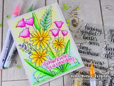 Featuring the Simon Says Stamp New Beginnings release and fun watercoloring inspiration using Zig Clean Color watercolor markers. Information Overload, Simon Says Stamp, New Beginnings, Stencils, Watercolor, Make It Yourself, Fun, Cards, Gifts