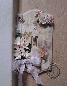 Shabby Chic Craft Ideas | Shabby Chic Switchplate