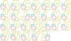 Sea Shell Alpha A-Z 4x4, 5x7, 6x10, 8x8 - Baby Kay's Appliques