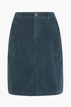 A soft cotton A-line cord skirt. A Seasalt autumn favourite. Finished with a zip and button fly, belt loops and patch pockets. A really versatile skirt.