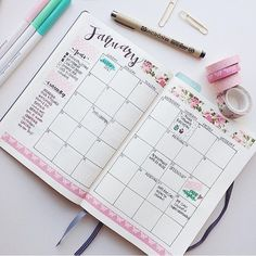 """328 curtidas, 6 comentários - a m a n d a (@simplifybujo) no Instagram: """"First monthly in my bullet journal """""""