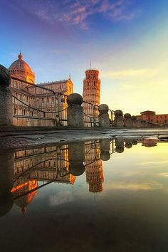 Sunrise over Pisa #Italy