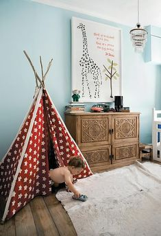 who wouldn't love a star tepee in a child's room!