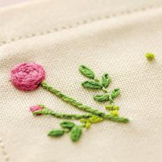Japanese Embroidery Kit Beginner, Kazuko Aoki, Embroidery DIY Kit, Easy Stitch Tutorial, Rose Tea Mat, Hand Embroidery Design, JapanLovelyCrafts