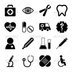 Medical Icons Set — Photoshop PSD #icon #heartbeat • Available here → https://graphicriver.net/item/medical-icons-set/5672230?ref=pxcr