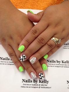 Chervon gel nails LOVE the colors!!!!