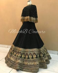 Reception lehenga by MischB Couture Indian Fashion Dresses, Indian Gowns Dresses, Dress Indian Style, Indian Designer Outfits, Pakistani Dresses, Indian Outfits, Designer Dresses, Indian Fashion Modern, Fashion Outfits