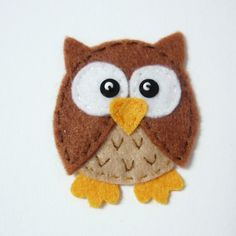 1pc - Brown Owlet Felt Applique - 55x45mm - made to order. $1.70, via Etsy.