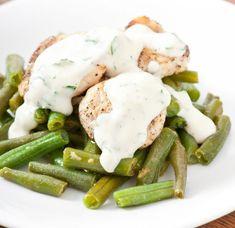 Piletina u pavlaci Greek Recipes, Yummy Recipes, Crepes, Green Beans, Potato Salad, Food And Drink, Eggs, Yummy Food, Dinner