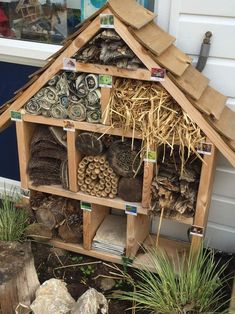 Bug hotel. #earlylearning #outdoorplay #smallworldplay #thewoodforgeco