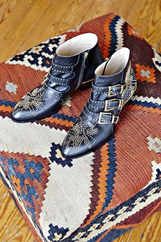 Chloe studded ankle boots.