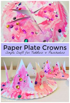 Easy DIY Paper Plate Crown Craft for Kids! A simple craft for toddlers and…