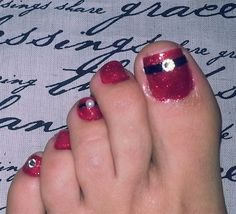 christmas toes by sirenmarina - Nail Art Gallery nailartgallery.nailsmag.com by Nails Magazine www.nailsmag.com #nailart