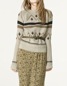 More for sweater weather. Zara Round neck Jacquard Jersey. $59.90 Pullover, Sweater Weather, Your Style, Sweaters For Women, Zara, Inspiration, Clothes, Collection, Dresses