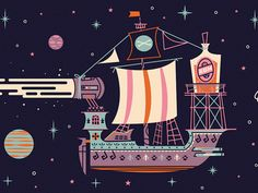 The S.S. Rum St Argh Ship