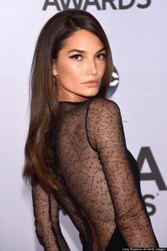 Lily Aldridge is smokin' hot in this sheer gown